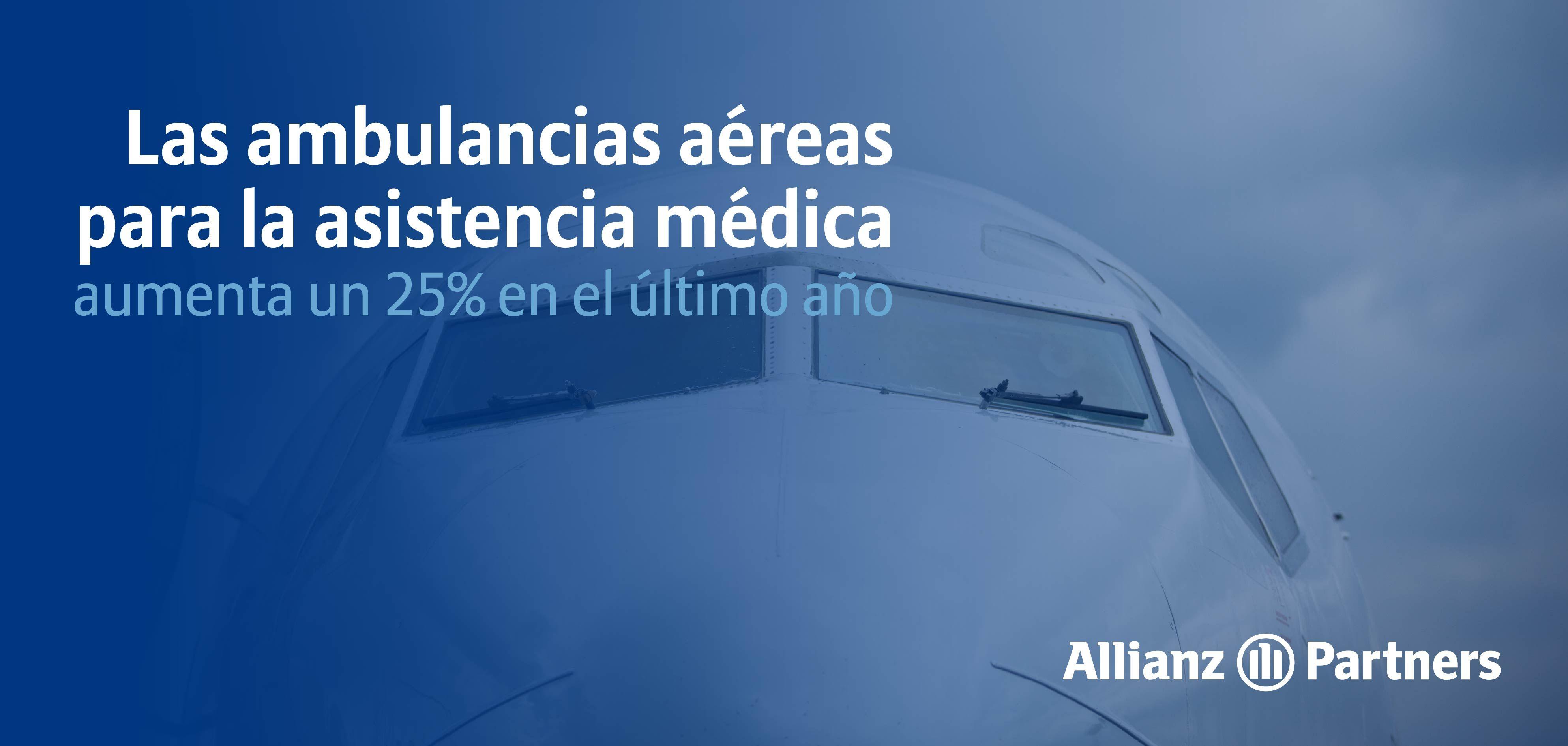 Las ambulancias aéreas para asistencia médica aumentan en un 25% en el último año