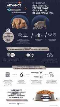 Infografía sobre el sistema inmunitario de las mascotas