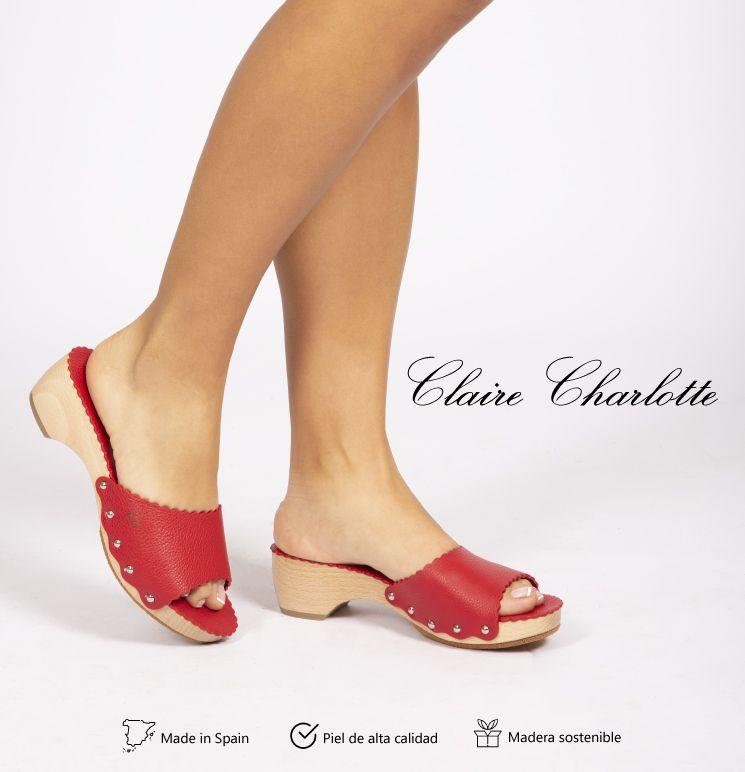 Claire Charlotte, sandalias de lujo fabricadas con madera y piel
