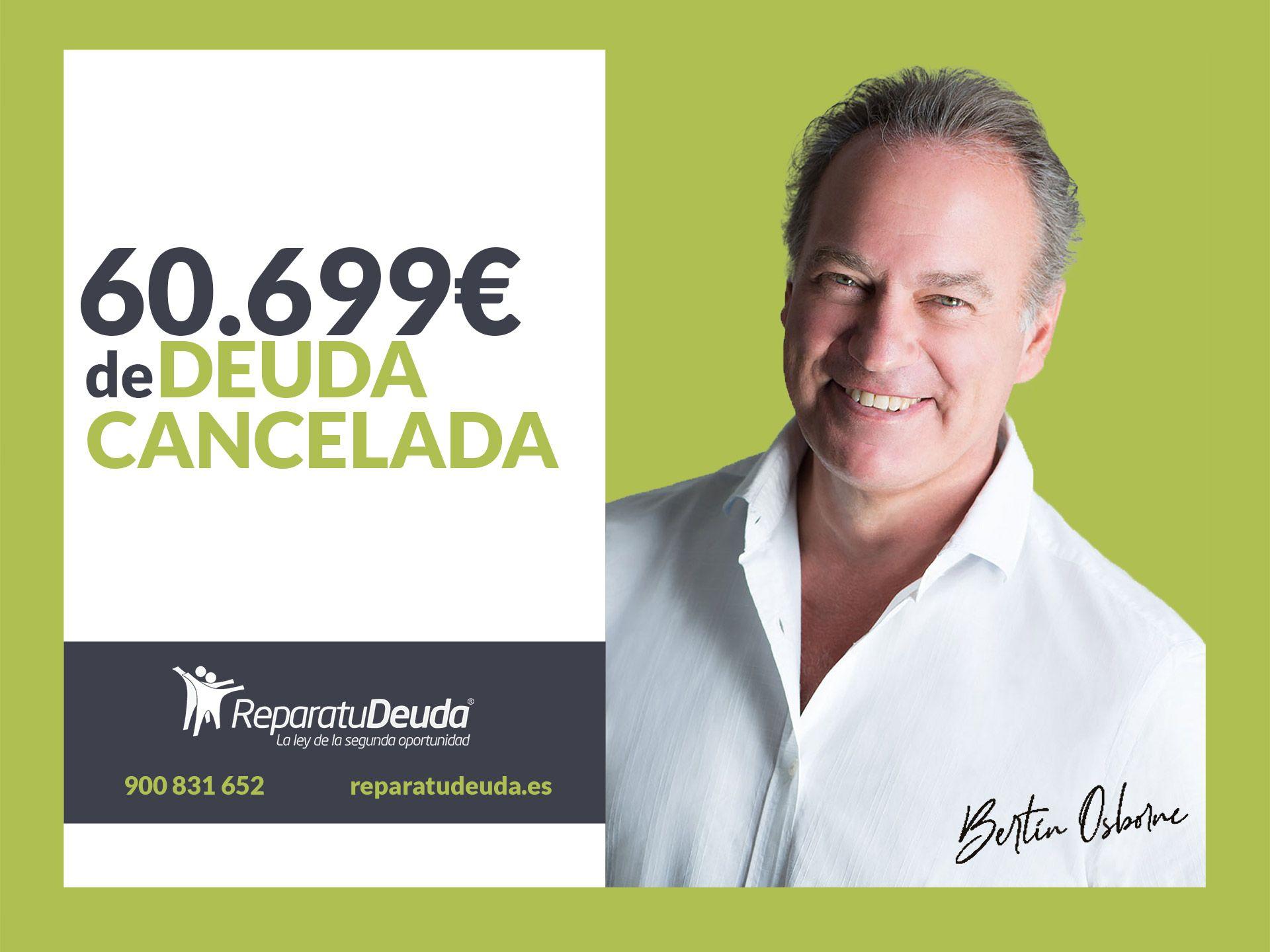 Repara tu Deuda Abogados cancela 60.699 ? en Barcelona con la Ley de Segunda Oportunidad