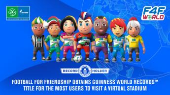 Football for Friendship establece un nuevo récord GUINNESS WORLD