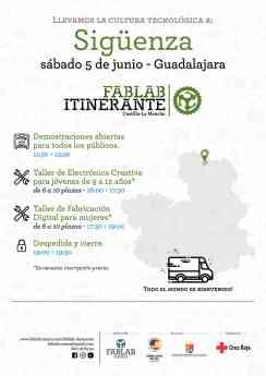 Foto de El FabLab Itinerante, este sábado, en Sigüenza