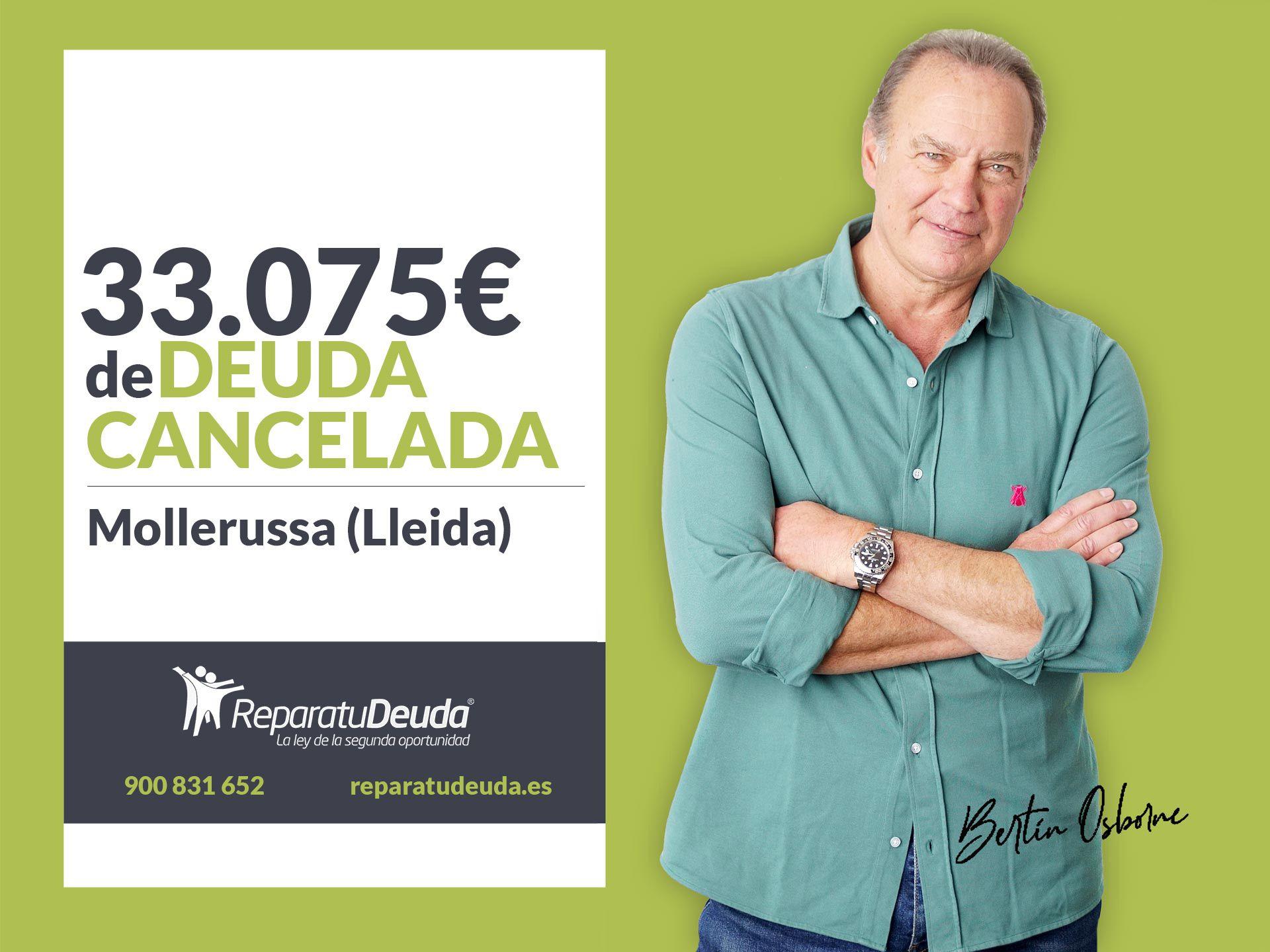 Repara tu Deuda Abogados cancela 33.075? en Mollerussa (Lleida) con la Ley de Segunda Oportunidad