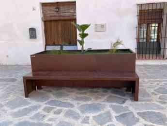 Foto de Banco-jardinera acero corten Faura