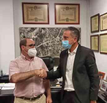 Miguel Ángel Sotillos, presidente de Aptur y Miguel Murillo,