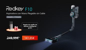 Aspiradora de mano plegable sin cable Redkey F10