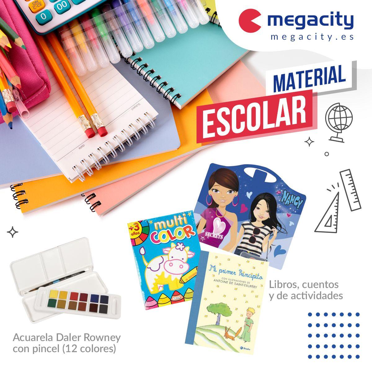 Megacity baja sus precios en material escolar con ofertas en una amplia variedad de productos