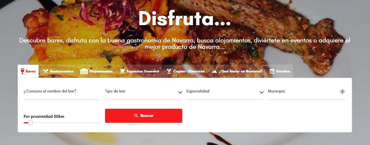 """""""Comer muy bien"""" el buscador de restaurantes y alojamientos en Navarra"""