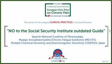 Foto de European Civic Prize on Chronic Pain