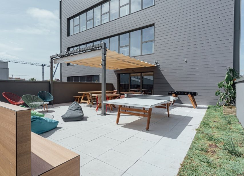 Fotografia Una de las terrazas de Ocado Technology Barcelona