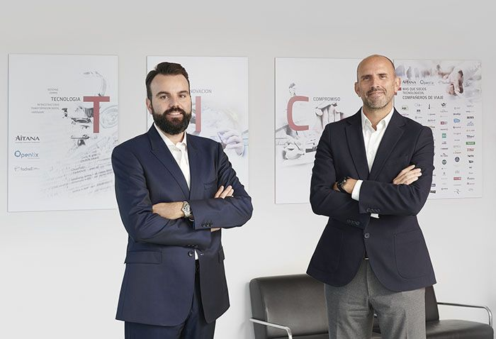 Foto de Jorge Torres, director general, y Daniel Segarra, director