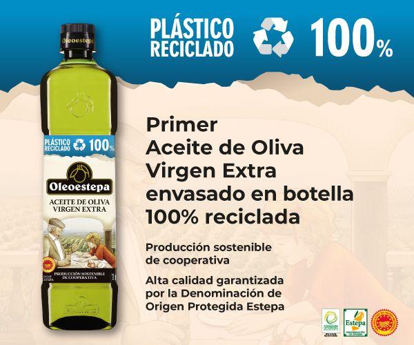 Foto de Primer Aceite de Oliva Virgen Extra envasado en botella 100%