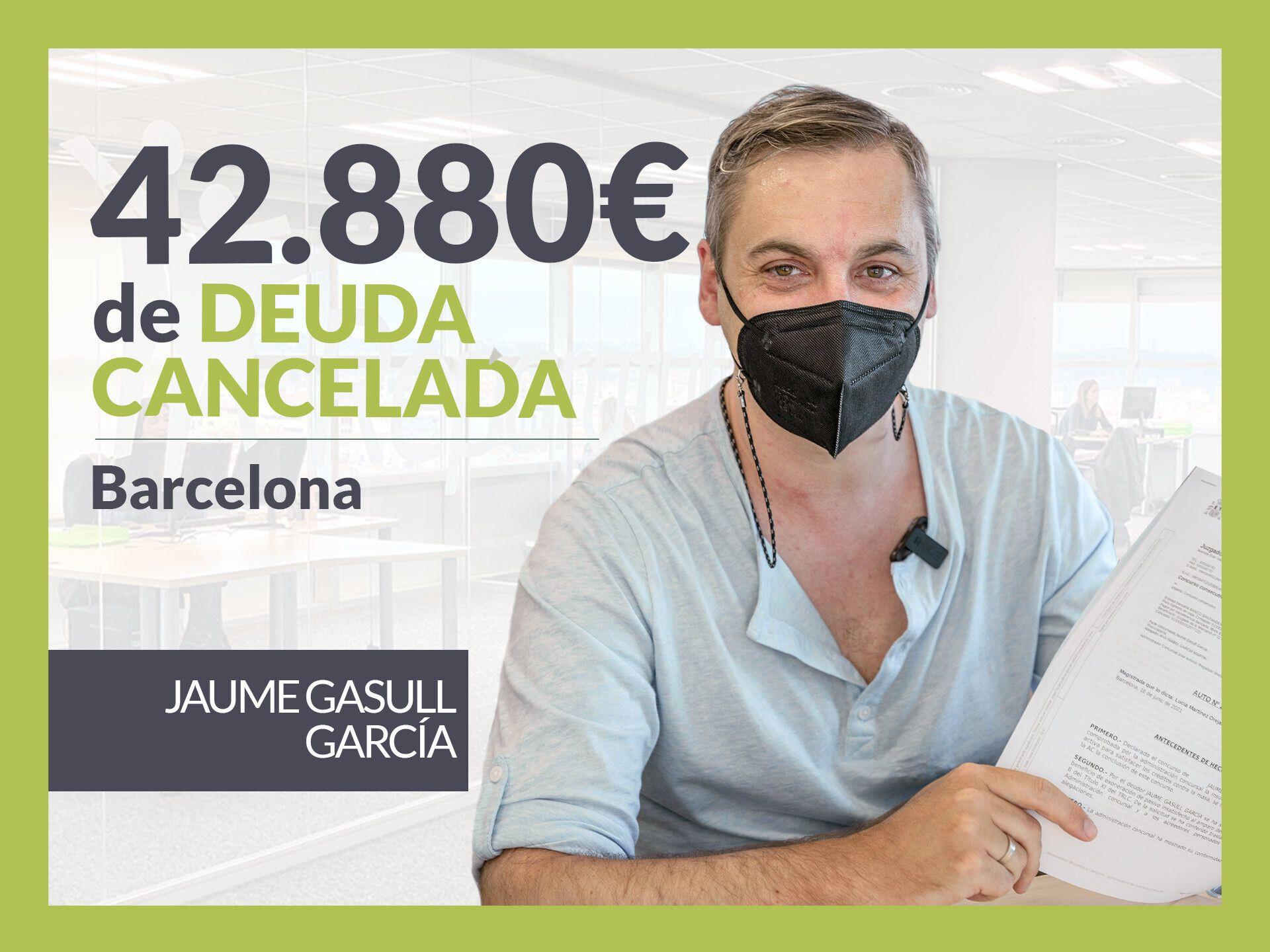 Foto de Jaume Gasull, exonerado con Repara Tu Deuda con la Ley de