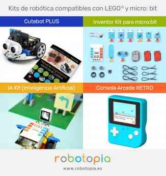 kits de robótica compatibles con micro:bit para usar en el aula