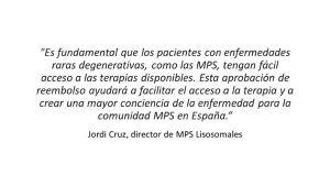 Cita de Jordi Cruz, director de MPS Lisosomales