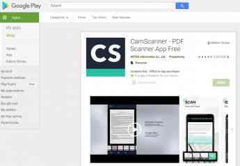 Aplicación CamScanner en Google Play