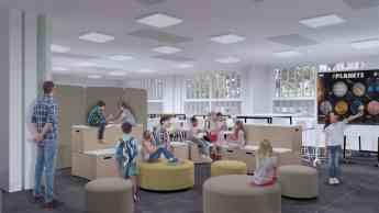 Foto de Aula de interpretación con muebles FluAp de Grup Efebé
