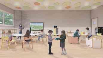 Foto de Aula de primaria con muebles FluAp de Grup Efebé