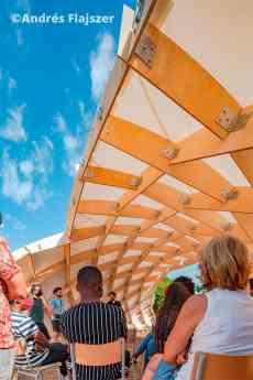 Aulario exterior con estructura innovadora de madera resultado del máster MPDA