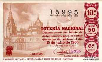 El Camino de Santiago en www.nacionalloteria.es