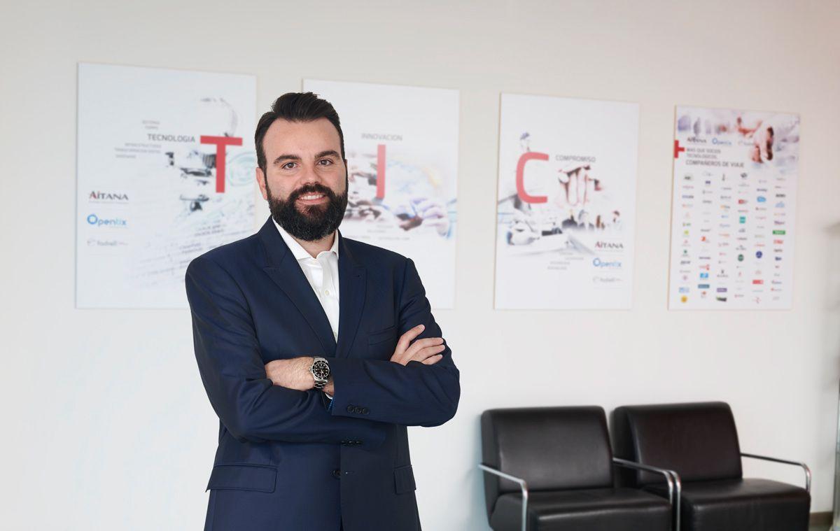 Fotografia Daniel Segarra, director ejecutivo, en una de las sedes de