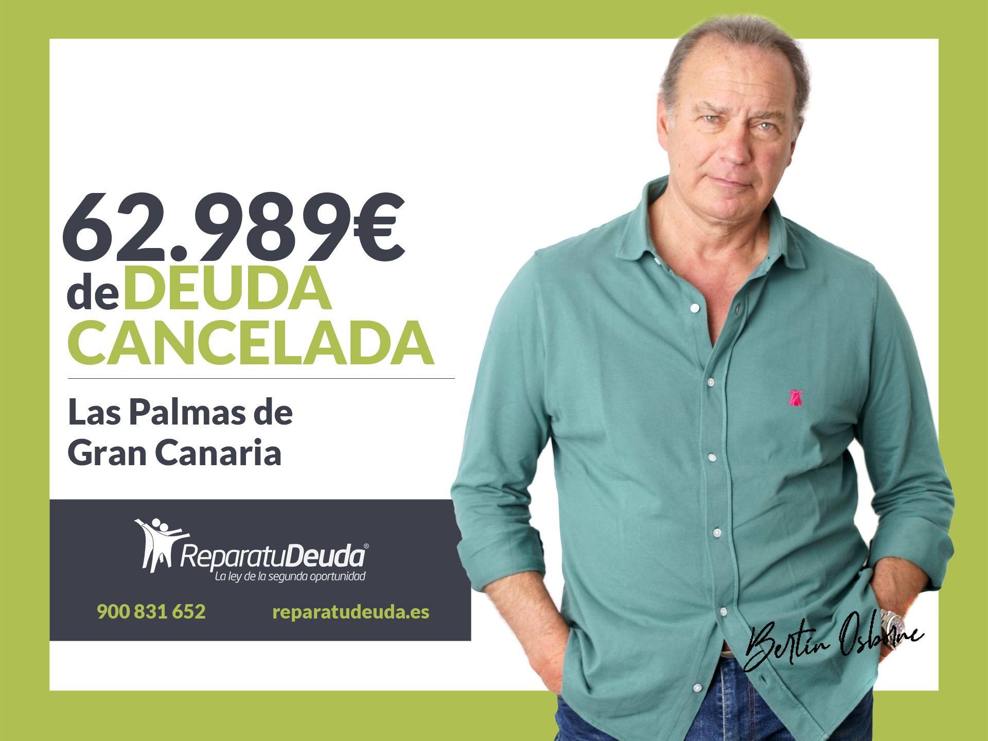 Repara tu Deuda Abogados cancela 62.989? en Las Palmas de Gran Canaria con la Ley de Segunda Oportunidad
