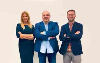 Silvia Escámez, Carlos Blanco y Marc Torres, fundadores de Finteca