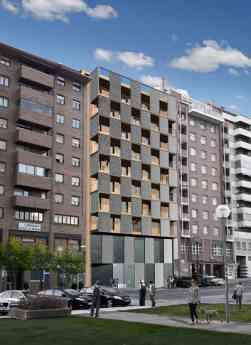 Recreación nueva promoción en Azpilagaña (Pamplona)- 36 VPO para alquiler-inminente inicio de obras