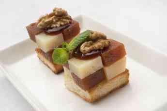 Foto de Bocados de queso TGT con membrillo