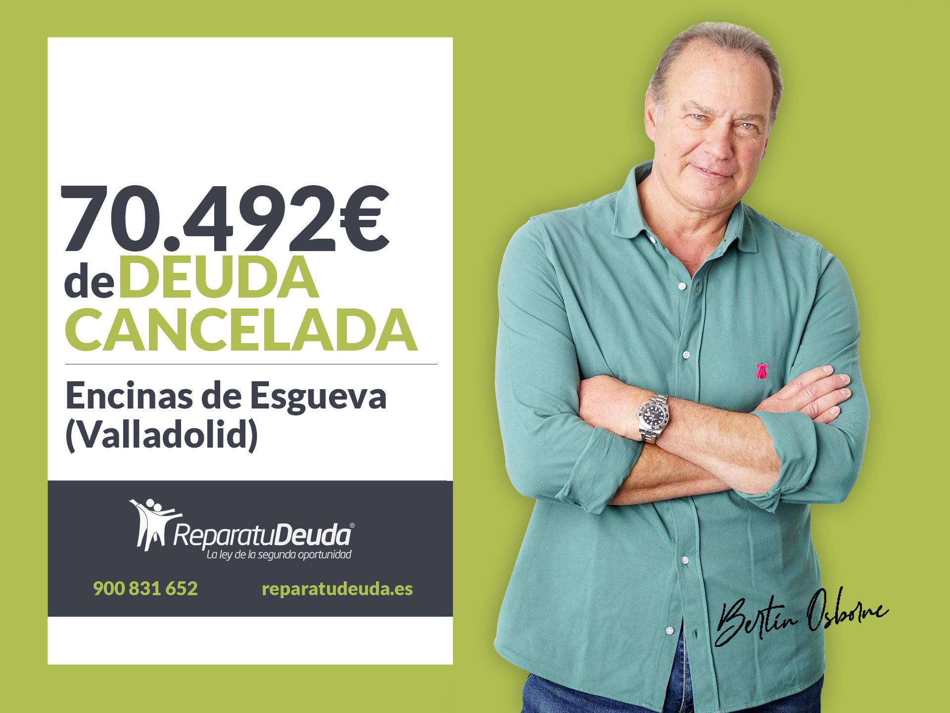 Repara tu Deuda cancela 70.492 ? en Encinas de Esgueva (Valladolid) con la Ley de Segunda Oportunidad