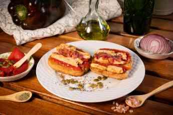 Foto de Receta de Panteff con pimientos, pollo y cebolla