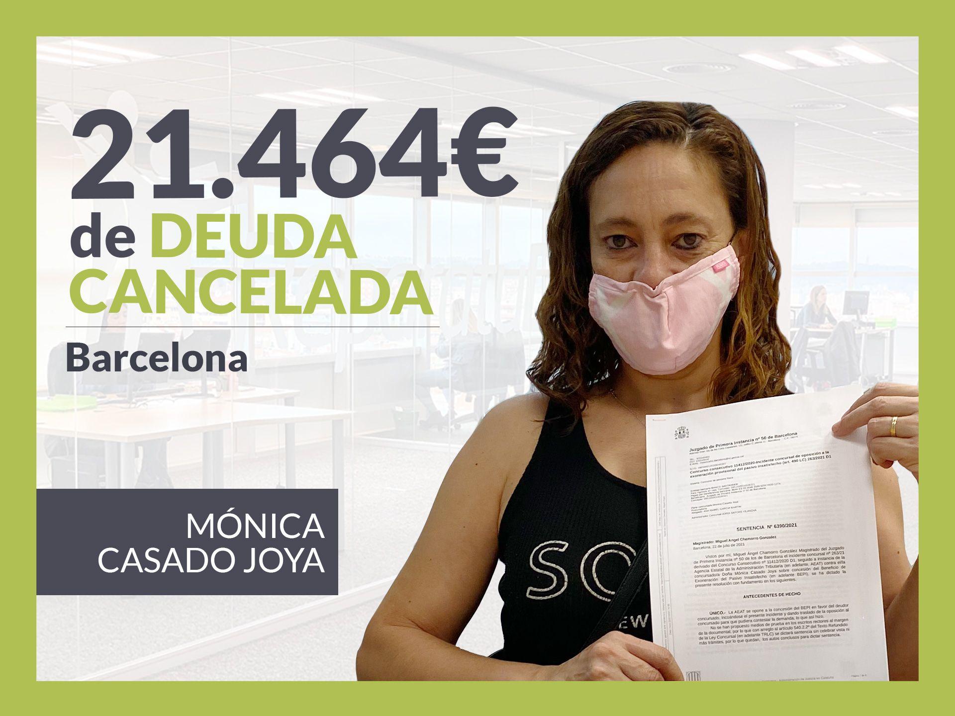 Foto de Mónica Casado, exonerado con Repara Tu Deuda con la Ley de