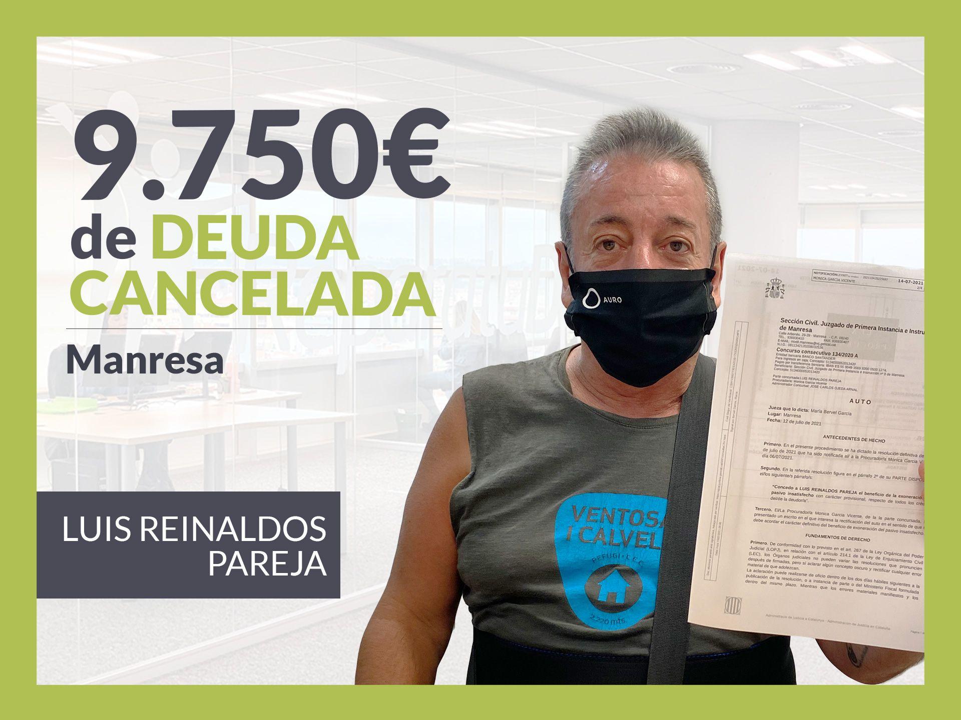 Foto de Luis Reinaldos Pareja, exonerado con Repara Tu Deuda con la