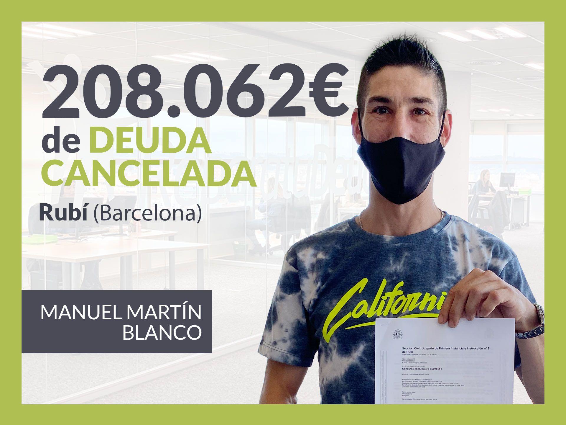 Foto de Manuel Martín, exonerado con Repara Tu Deuda con la Ley de
