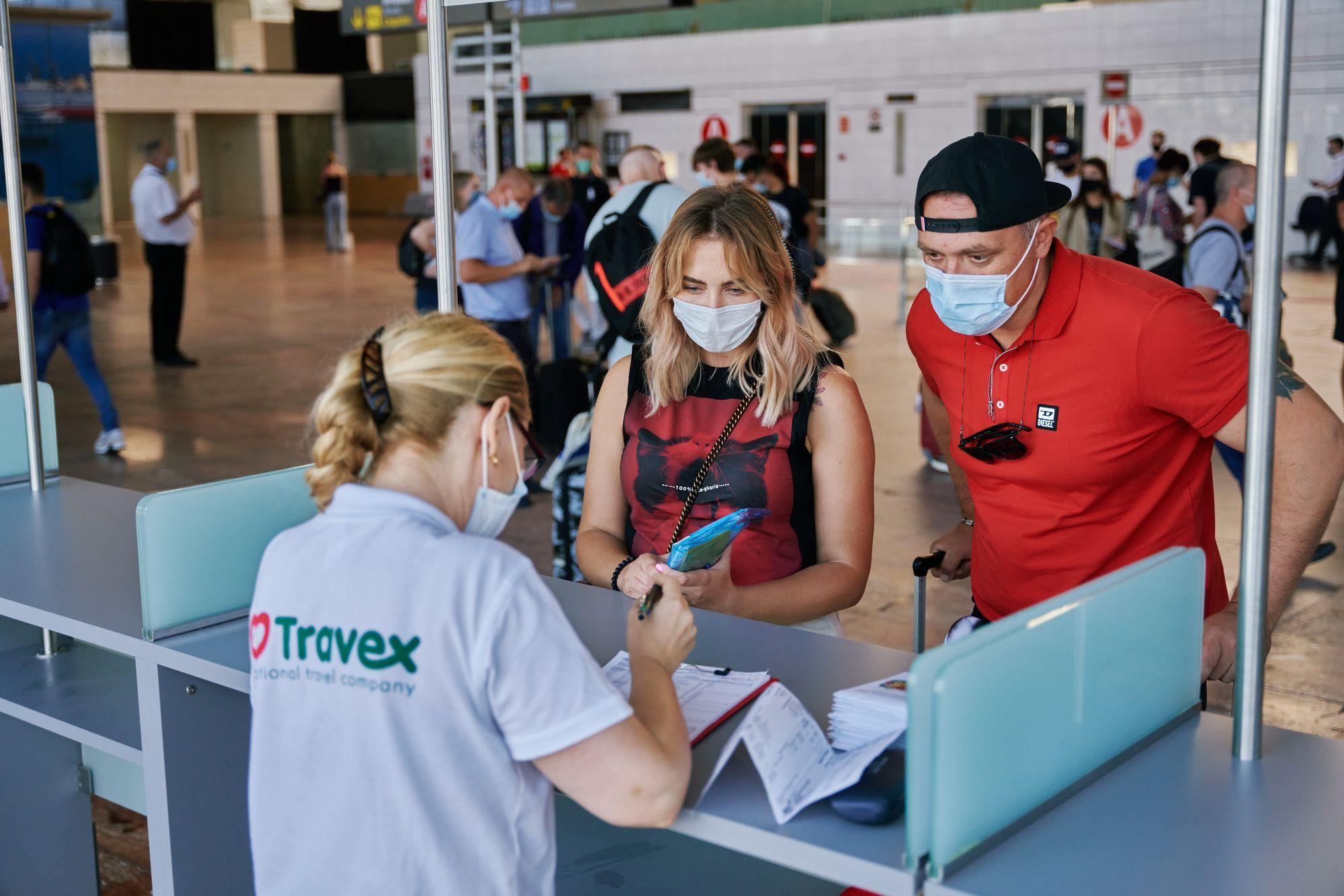 Foto de Turistas ucranios a su llegada a Barcelona