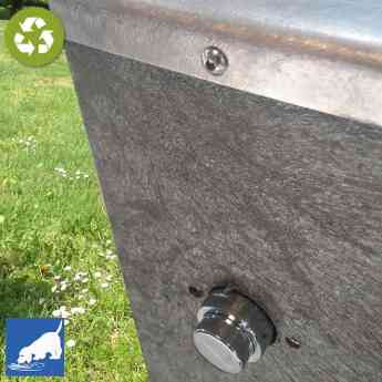 Fuente urbana FSM de plástico reciclado 100%