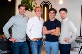 Fundadores de Sortlist. De izquierda a derecha - Charles De Groote, Thibaut Vanderhofstadt, Michael Valette y Nicolas Finet