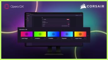 Opera GX integra CORSAIR iCUE