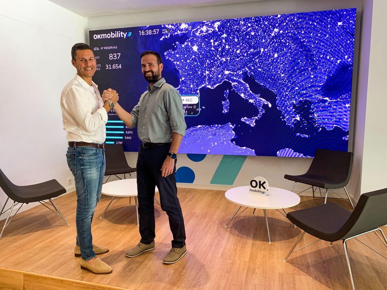 Fotografia Othman Ktiri, CEO de OK Mobility, y Toni Oliver, CTO