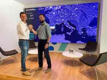 Othman Ktiri, CEO de OK Mobility, y Toni Oliver, CTO