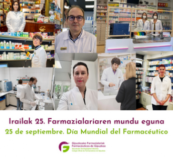 Farmacéuticos/as de Gipuzkoa conmemoran el sábado el Día Mundial de la profesión.