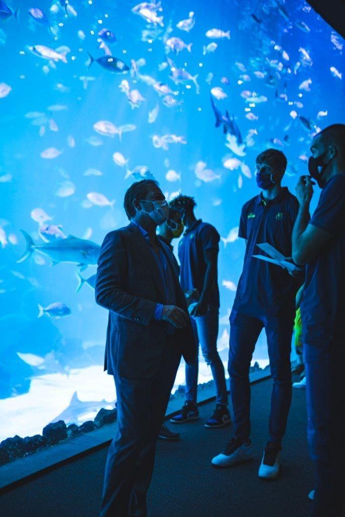 El acuario Poema del Mar y el Club Baloncesto Gran Canaria presentan la continuidad de su patrocinio