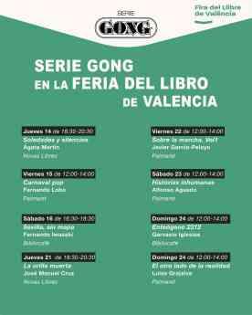 Cartel de Serie Gong en la Feria del Libro de Valencia