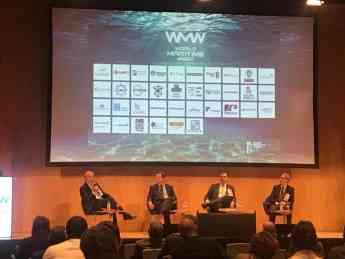 Foto de Aznar durante la WMW