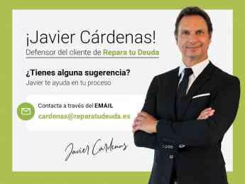 Javier Cárdenas, defensor del cliente de Repara Tu Deuda Abogados, líderes en la Ley de Segunda Oportunidad
