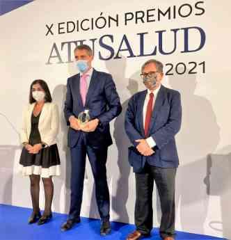 Juan Antonio Álvaro de la Parra, en la entrega de los premios A Tu Salud