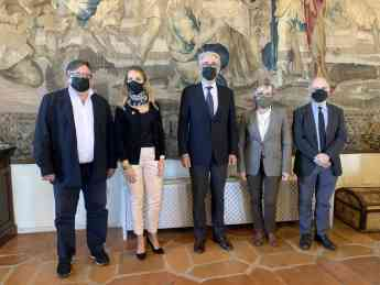 Los arquitectos españoles visibilizan en Sigüenza su firme respaldo a la candidatura de Patrimonio Mundial