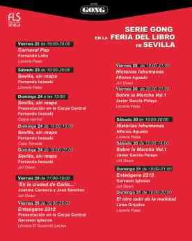 Cartel de Serie Gong en la Feria del Libro de Sevilla