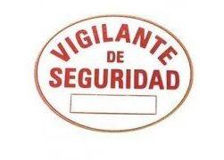 Nueva placa de vigilante de seguridad en PVC
